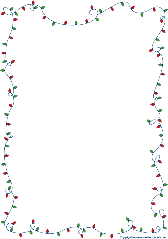 fun and free christmas lights clipart ready for personal and commercial projects - Christmas Lights Frame