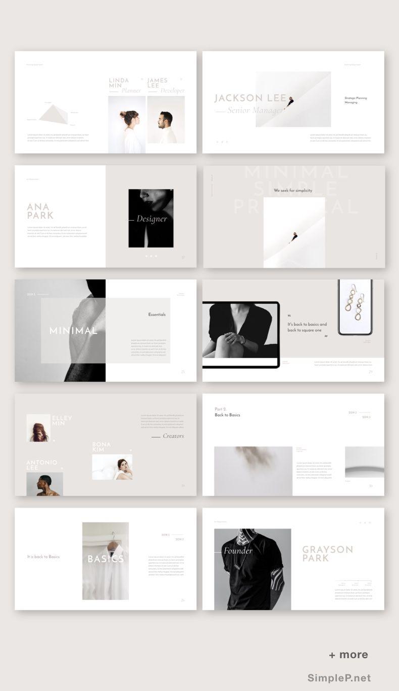 Basic Presentation Template #beige #keynote #presentation #template #templates #pitchdeck #lookbook #branding #portfolio #simplep #AD #powerpointicon