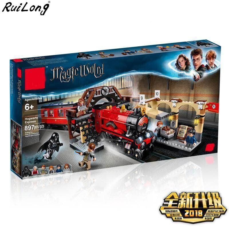 Construction set compatible for 75955 Lego Harry Potter Hogwarts Express Train