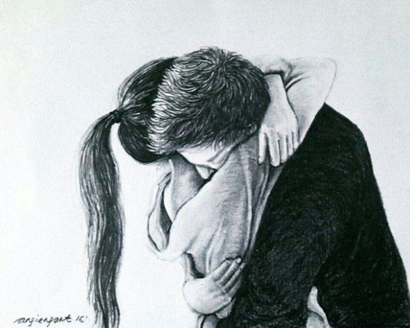 beautiful pencil sketche #relationship