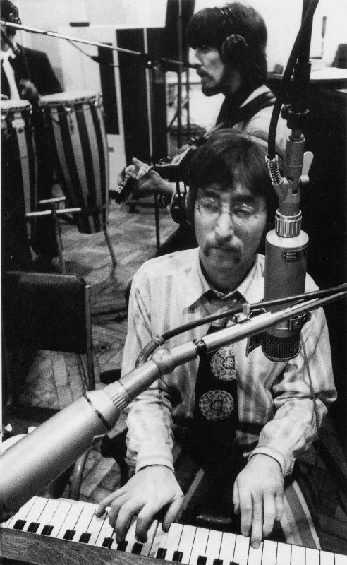 John Recording A Day In The Life Sgt Pepper 1967 The Beatles Beatles Pictures Beatles Photos