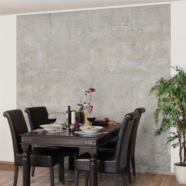 betontapete beton tapete vliestapete shabby betonoptik fototapete quadrat kaufen