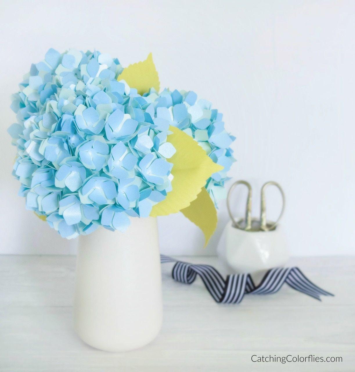 Hydrangea Paper Flower Templates Paper Flowers Paper Flower Template Flower Template