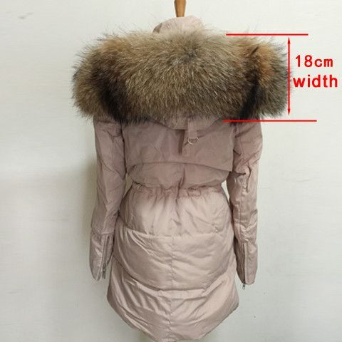 New Fashion Winter Jacket Women Large Thick Real Raccoon Fur Collar Hooded Jackets Coat For Women Outwear Parka C3087