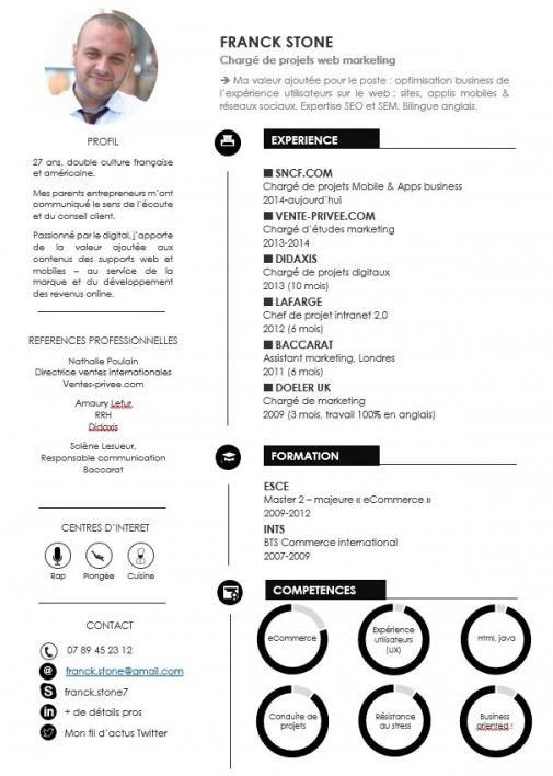 Modèle De Cv Design Pro Donnez Un Coup De Jeune à Votre Cv