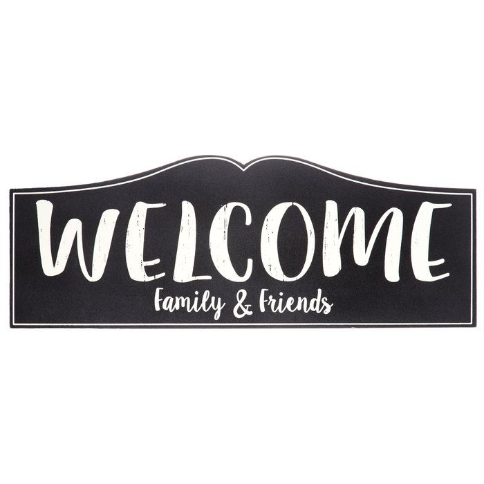 Welcome Family Amp Friends Plaque Mirror Wall Decor