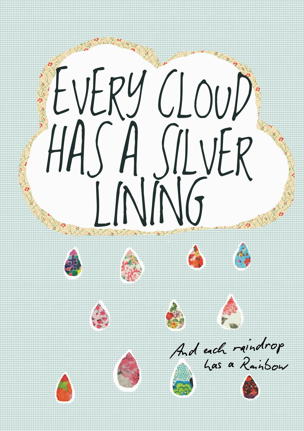 Every Cloud Has A Silver Lining A4 Print 750 Via Etsy