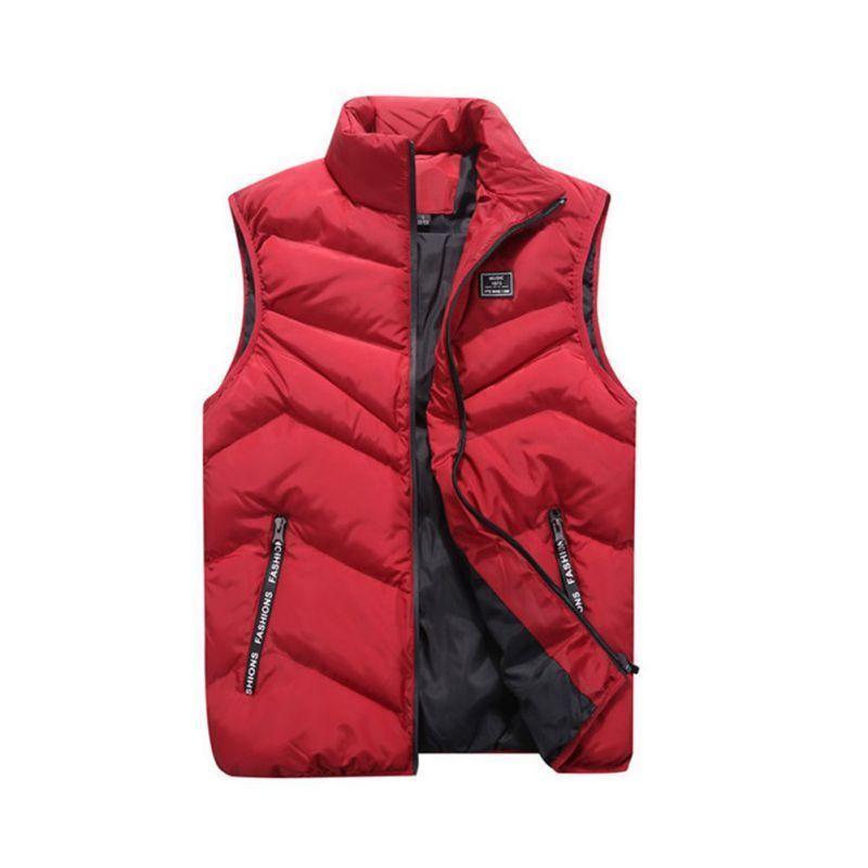 5a733cb62d200 Coats   Jackets Men Winter Sleeveless Zipper Vest Puffer Warm Outwear  Padded Safari Jacket Coat Clothing