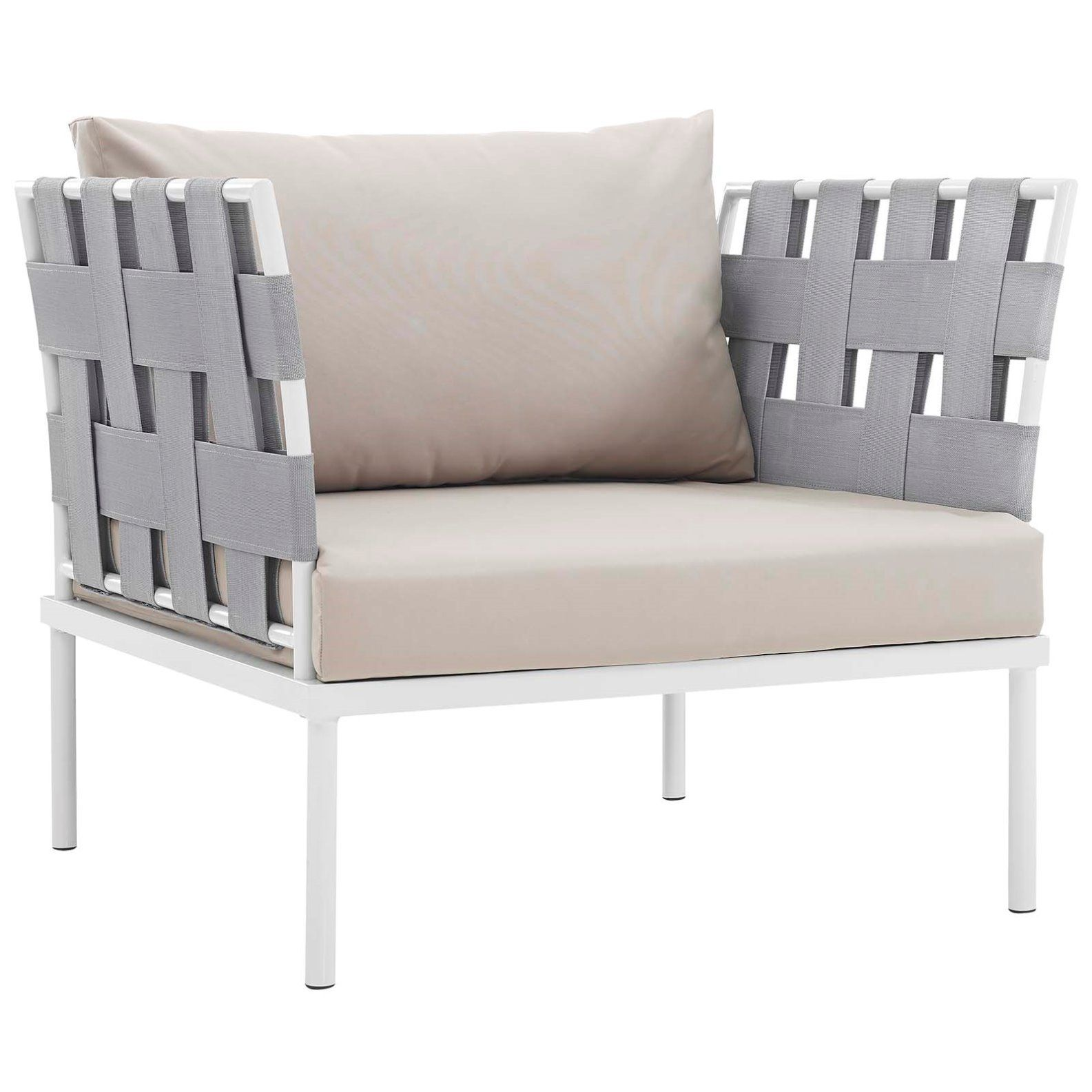 Modern Contemporary Urban Outdoor Patio Balcony Six Pcs Sectional Sofa Set Beige White Rat Patio Lounge Chairs Patio Furniture Dining Set Modern Furniture Sets