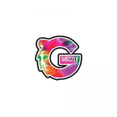 Grizzly Griptape Grizzly Tie Dye Logo Sticker | 3 Stickers ...