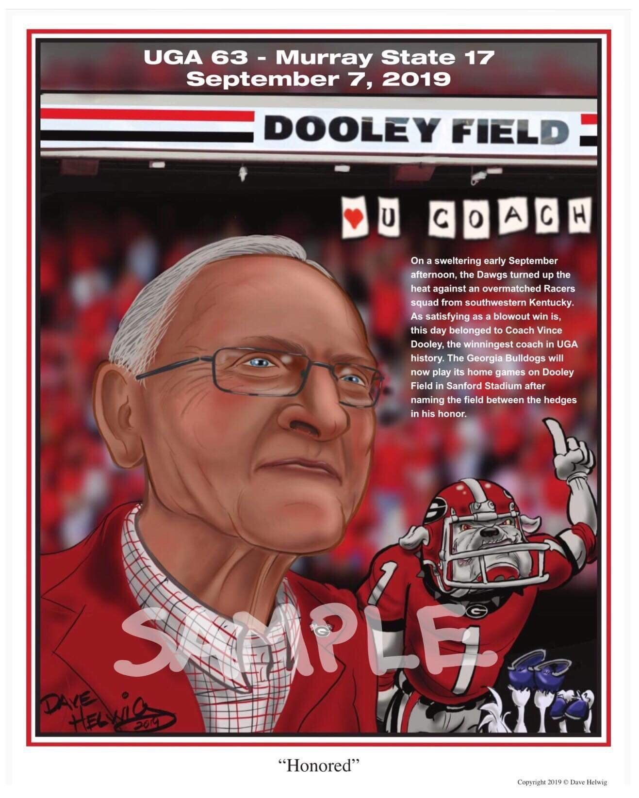 "2019 Dave Helwig ""Honored"" Vince Dooley Bulldogs"