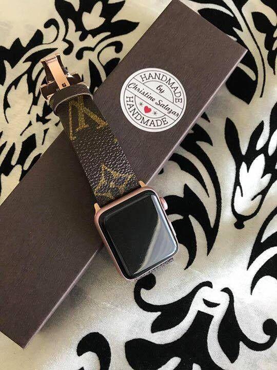 416e7bb23ea1 Handmade Louis Vuitton Apple Watch Band