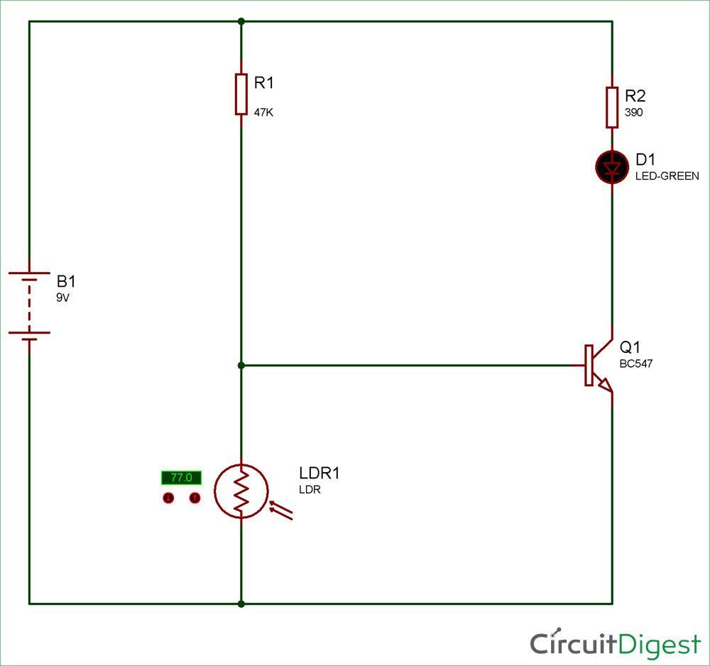 simple key hole lighting device circuit diagram [ 1000 x 938 Pixel ]