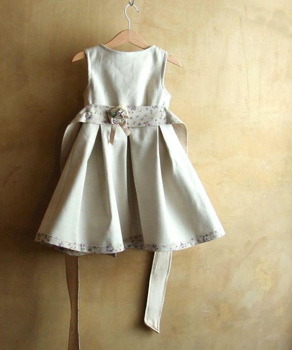 Vestiti Eleganti Bimba 3 Anni.Elegante Abito Di Lino Per Le Occasioni Speciali Raffinato E