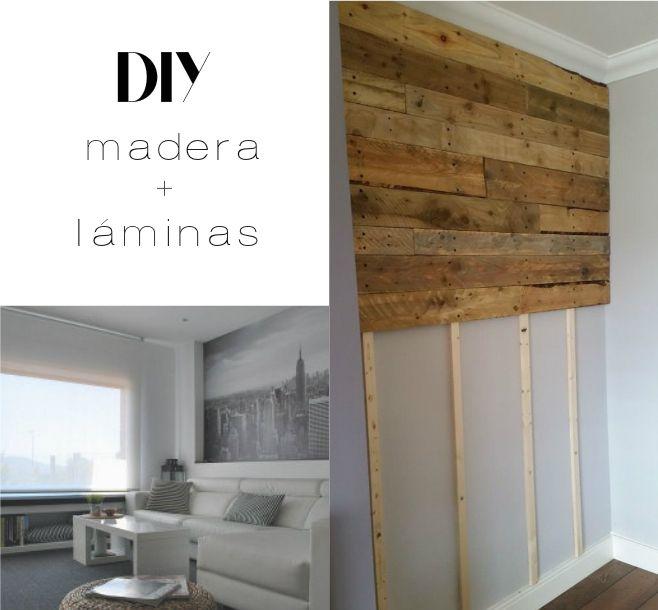 DIY decorar con madera y laminas DIY Pinterest