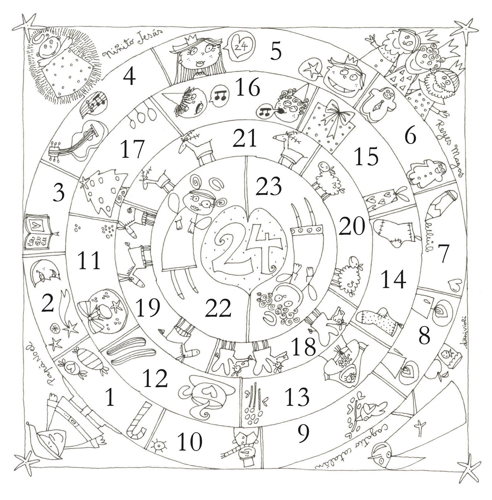 Circular Advent Calendar--would be fun to make our own