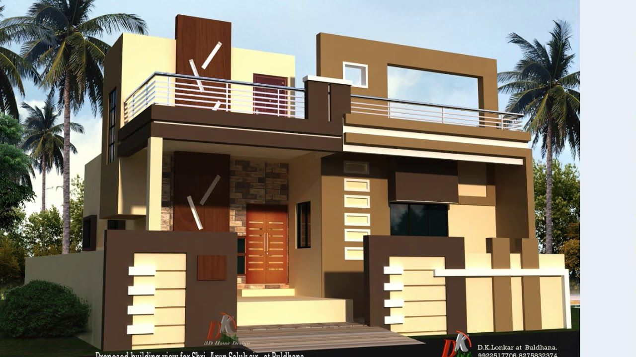 33 Ft Wide House Front Elevations Small House Elevation Small House Elevation Design House Front