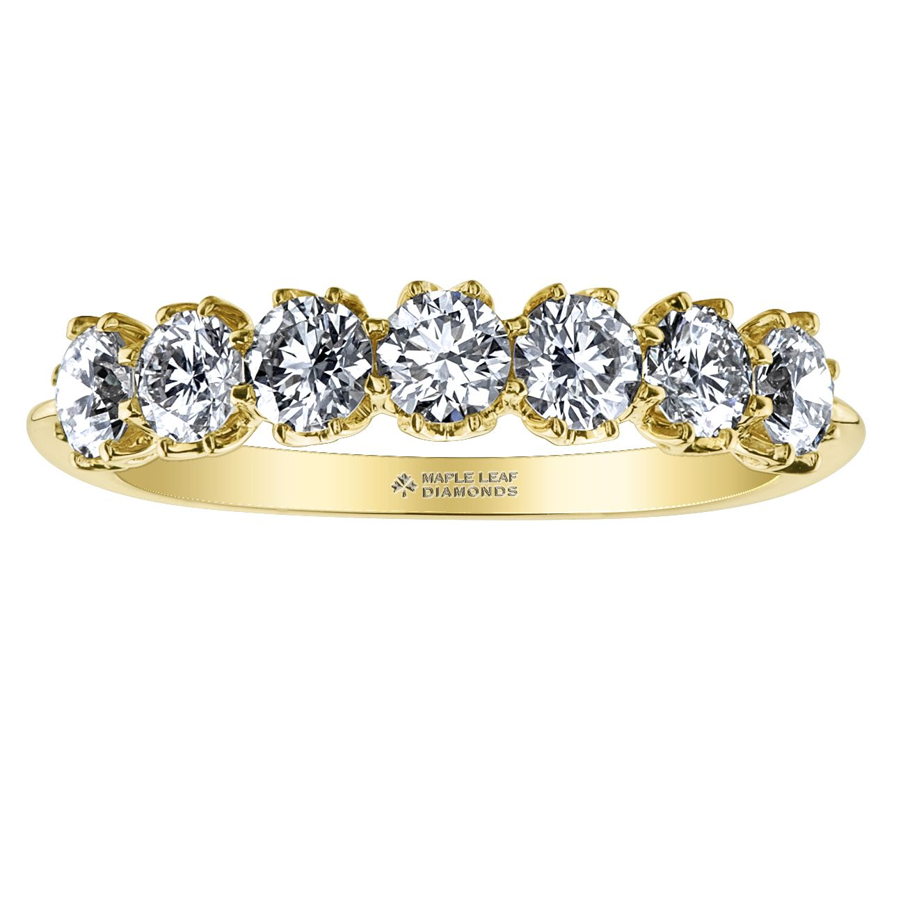7 Canadian Diamond Anniversary Band Set in Yellow Gold 1