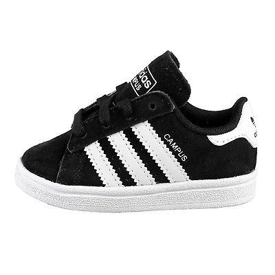 Adidas Campus 2 Infant C77170 Black White Shoes Toddler Sneakers Baby Size  10