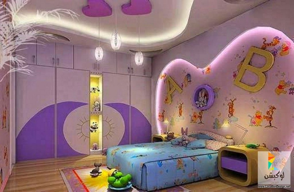 ديكورات جبس غرف نوم أطفال Kids Bedroom Modern Childrens Room Modern Kids Bedroom