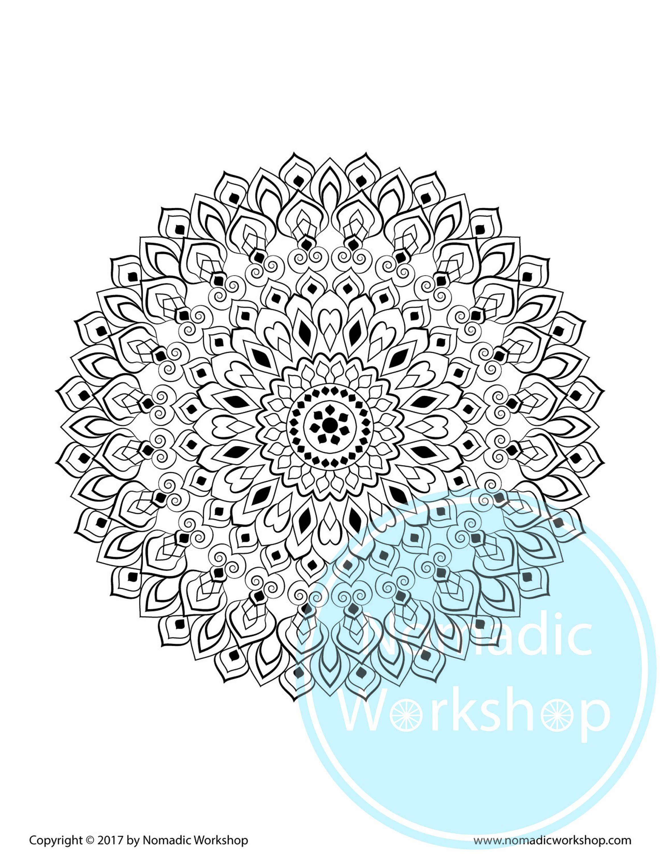 Mandala Coloring Page Printable Coloring Pages for Adults Mandala to ...