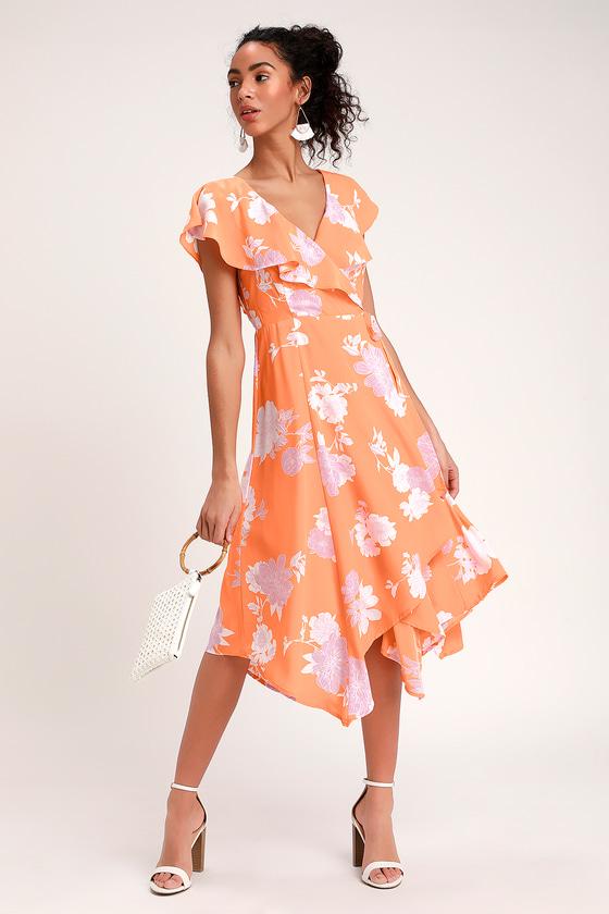 40++ Orange floral dress information