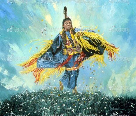 Fancy Shawl Dancer  by Richard Luce  kp