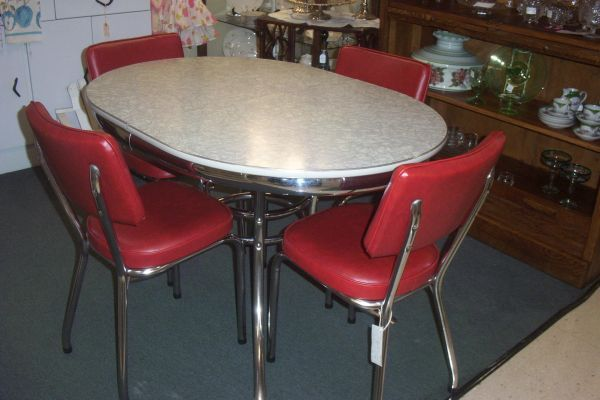 Vintage Chrome Table and Chairs | Antiques and Things ...