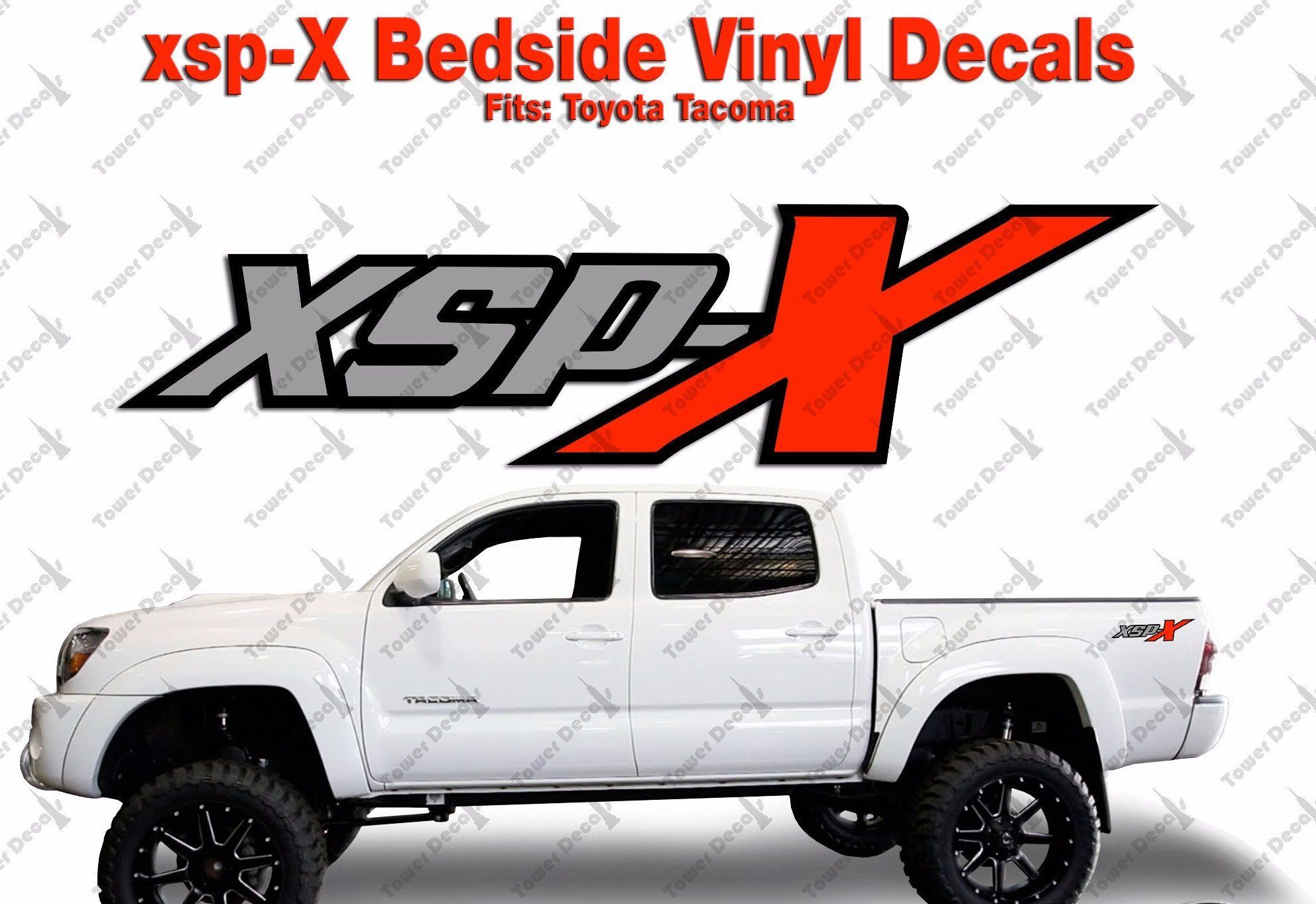 XSP X 3 Color Package Vinyl Decals Truck Bedside Fits Toyota Ta a