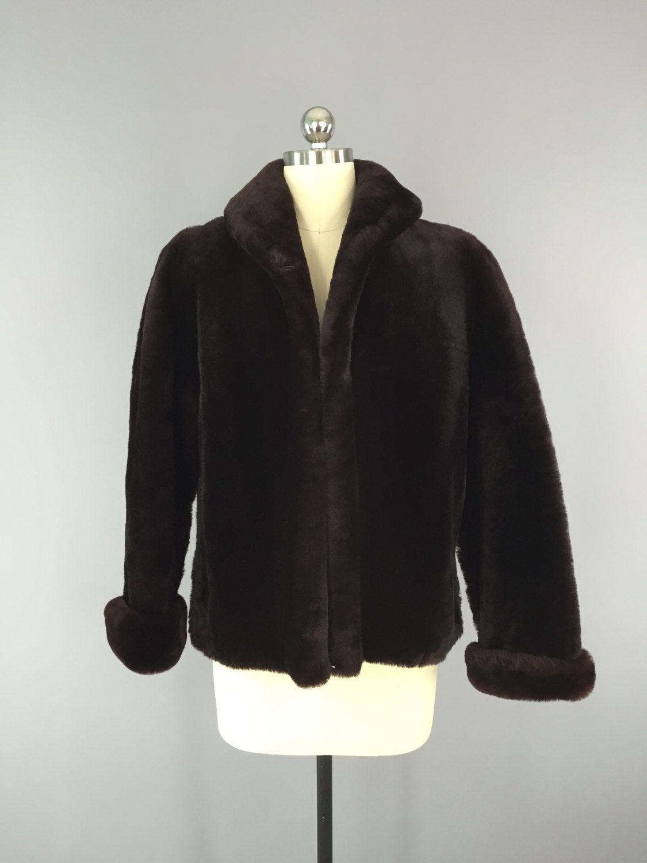 1950s Fur Coat / Sheared Lamb Mouton / Fur Jacket #vintage #fur ...