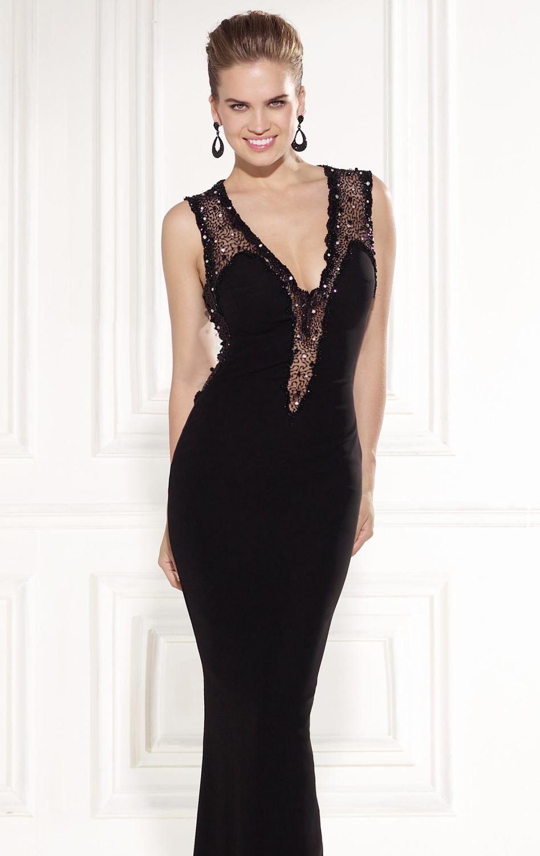 7998c0b5214 Beaded Sleeveless V Neckline Gown by Tarik Ediz. Love this one ...