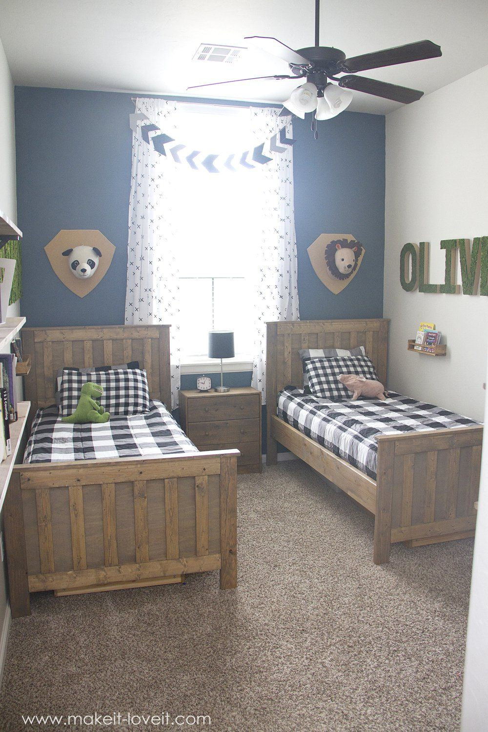 Ideas For A Shared BOYS Bedroom (...yay, All Done!!) | Via  Www.makeit Loveit.com