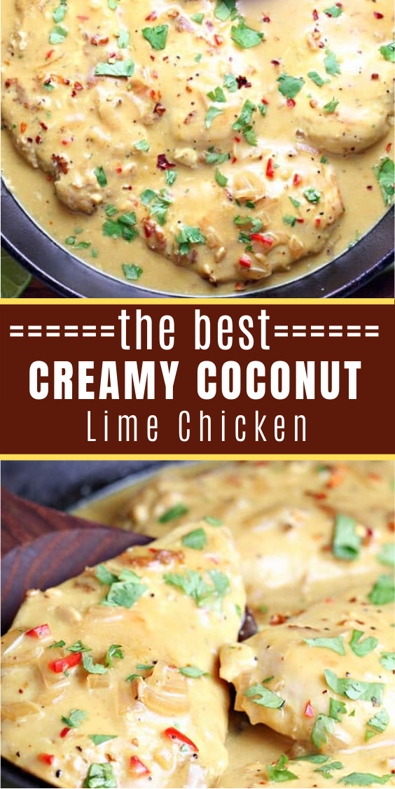 Delicious Creamy Coconut Lime Chicken #mexicanrecipeswithchicken