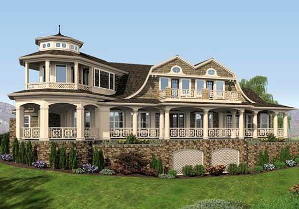 Plan 23485jd Luxurious Shingle Style Home Plan Shingle Style Homes Nantucket Style Homes Shingle Style