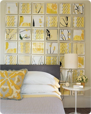 Yellow wall art is perfect for a bedroom with a yellow color scheme ...
