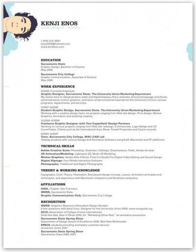 Freelance Graphic Designer Resume Kenjiboyresumebykenji203  Mel's Musings  Pinterest  Curriculum .
