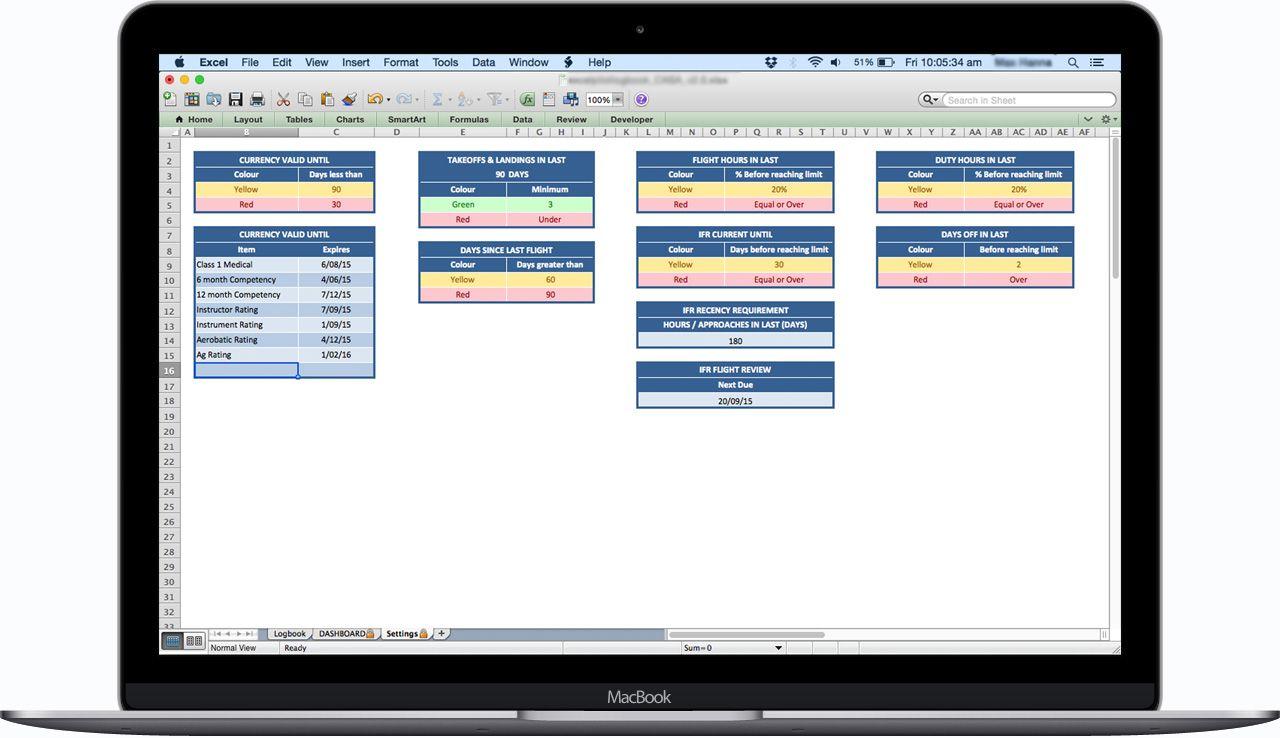 Faa Pilot Logbook Spreadsheet Excel Pilot Faa