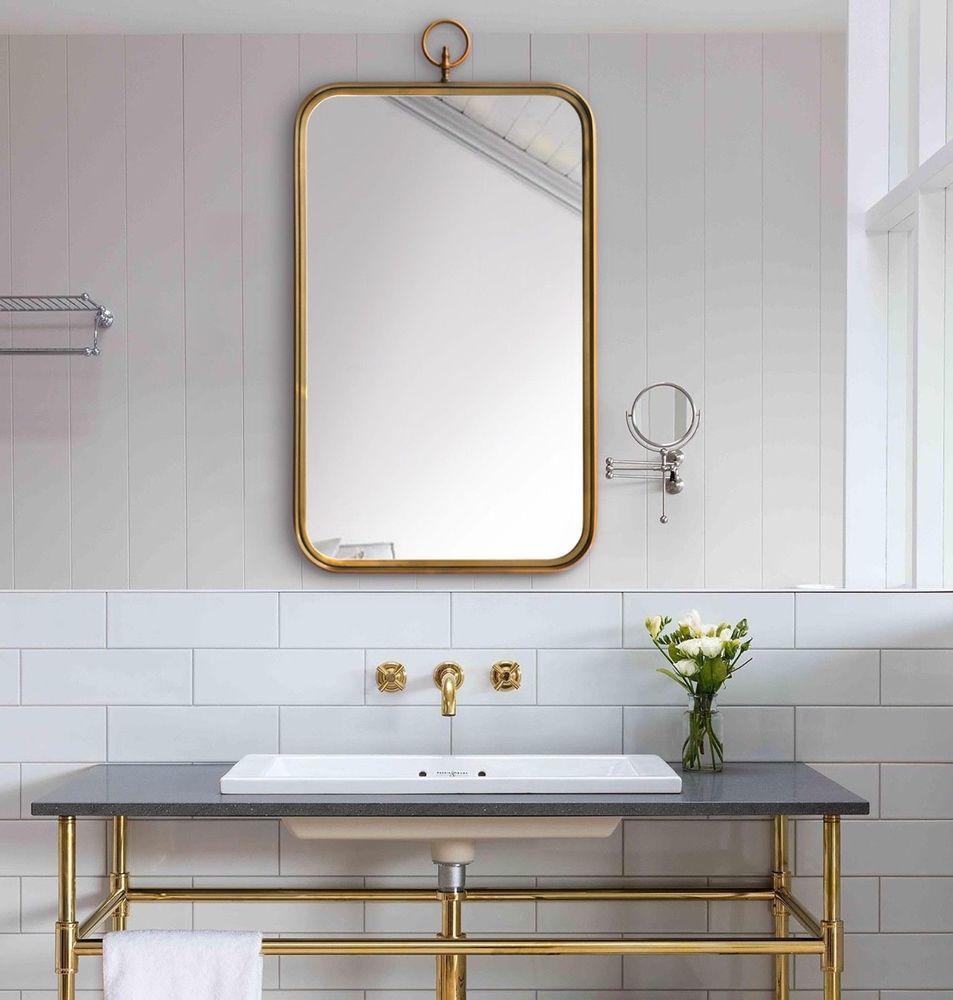 Details About New 36 Restoration Modern Wall Mirror Antique Hardware Gold Brass Victorian Mirror Wall Bathroom Mirror Wall Modern Mirror Wall