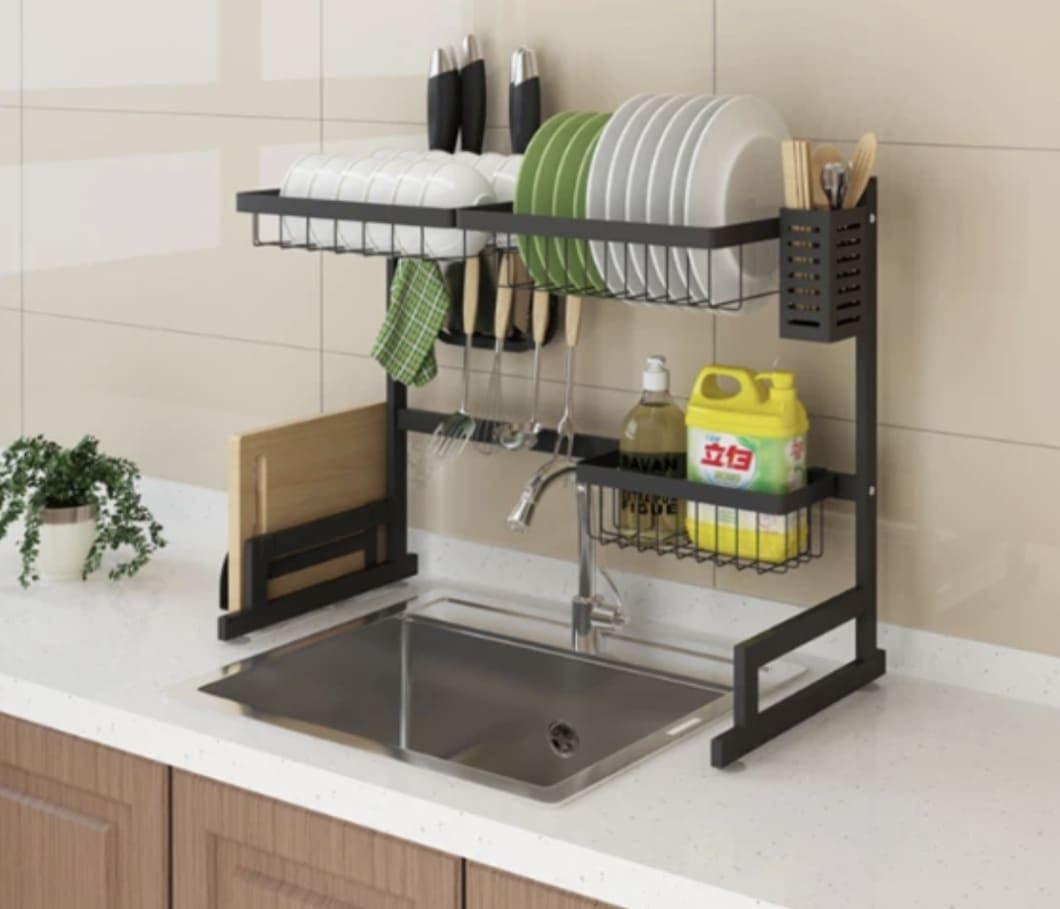 Stainless Steel Drain Rack Interior Design Kitchen Kitchen Furniture Design Kitchen Counter Organization