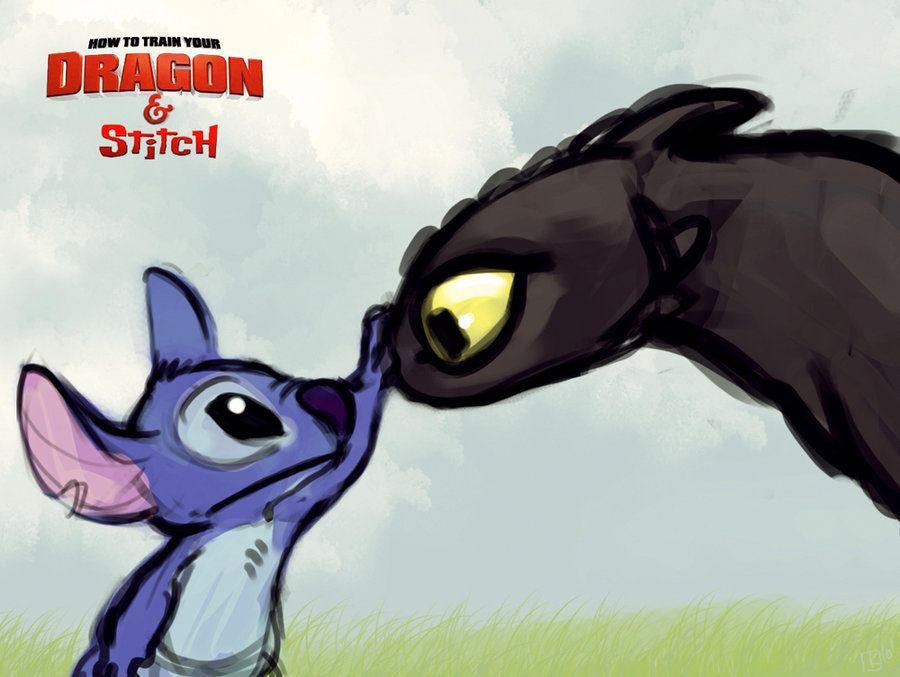 Dragon Toothless And Stitch With Images Toothless And Stitch