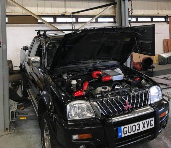 Mitsubishi L200 With A Mercedes Turbo Diesel Inline Five Mitsubishi Engine Swap Diesel Trucks