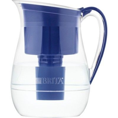 Brita Large 10 Cup BPA Free Water Pitcher with 1 Longlast