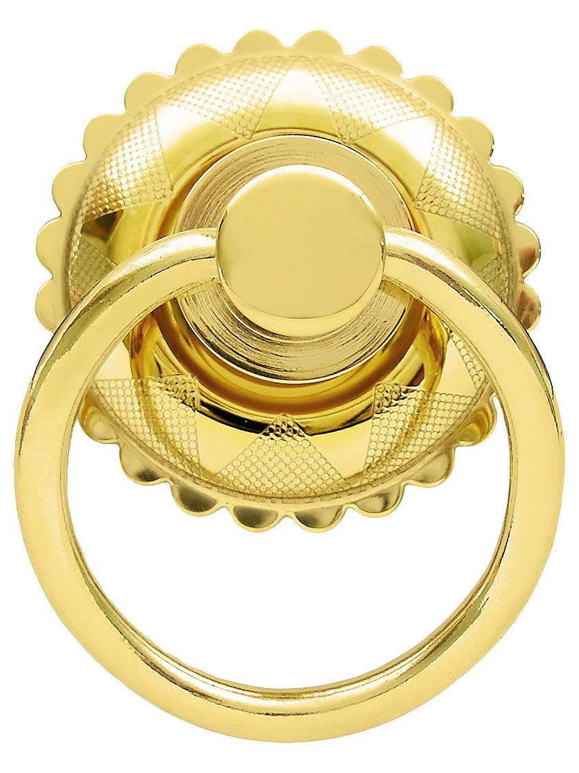 Eastlake Round Ring Pull In Brass or Nickel Finishes | Hardware ...