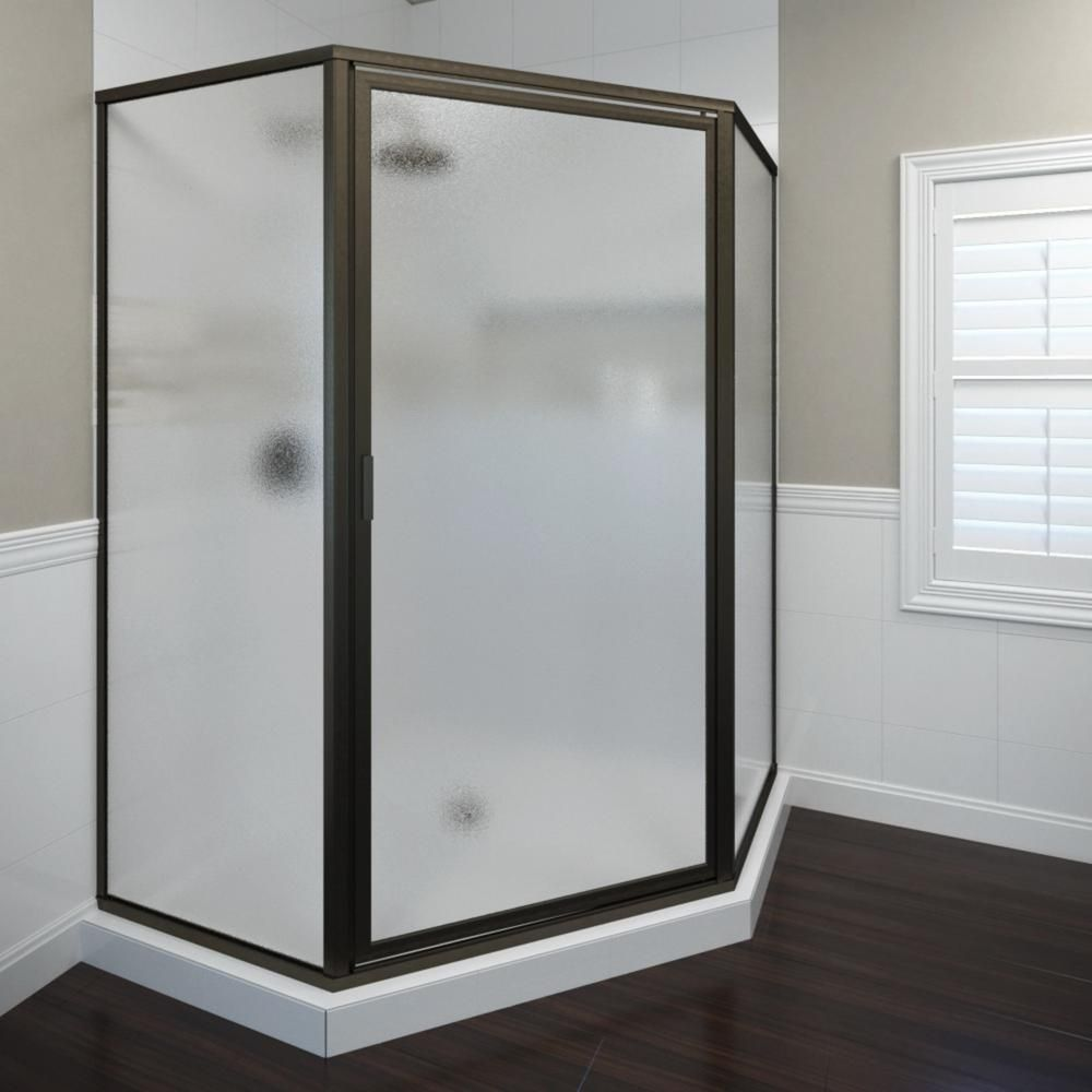 Basco Deluxe 22 5 8 In X 68 5 8 In Framed Neo Angle Hinged