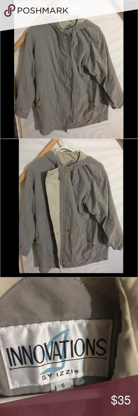 Innovations By Izzi Hooded Jacket Hooded Jacket Jackets Gray Jacket [ 1740 x 580 Pixel ]