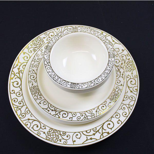 Strong Elegant Formal Plastic Plates Bowls Uk Retail Wholesale Plates Elegant Plates Disposable Plastic Plates