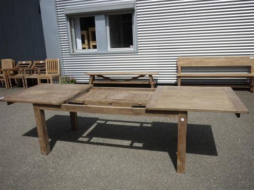 Teak Tisch Altes Holz 200 250 300 X 100 Cm Ausziehbar Image 3