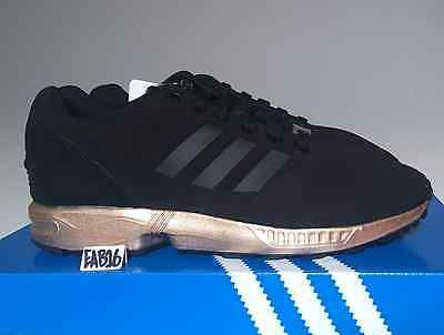 Adidas Originals ZX Flux Black And Copper Gold Rose Women&