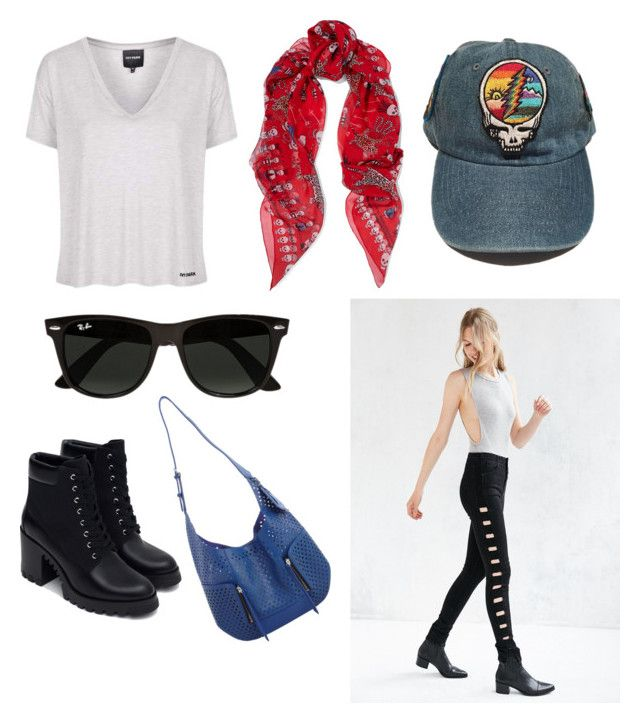 """just trying to make it through the day"" by ajnoel on Polyvore featuring Alexander McQueen, BDG, Olivia Harris, Topshop, Zara, Ray-Ban, StreetStyle and skulls"