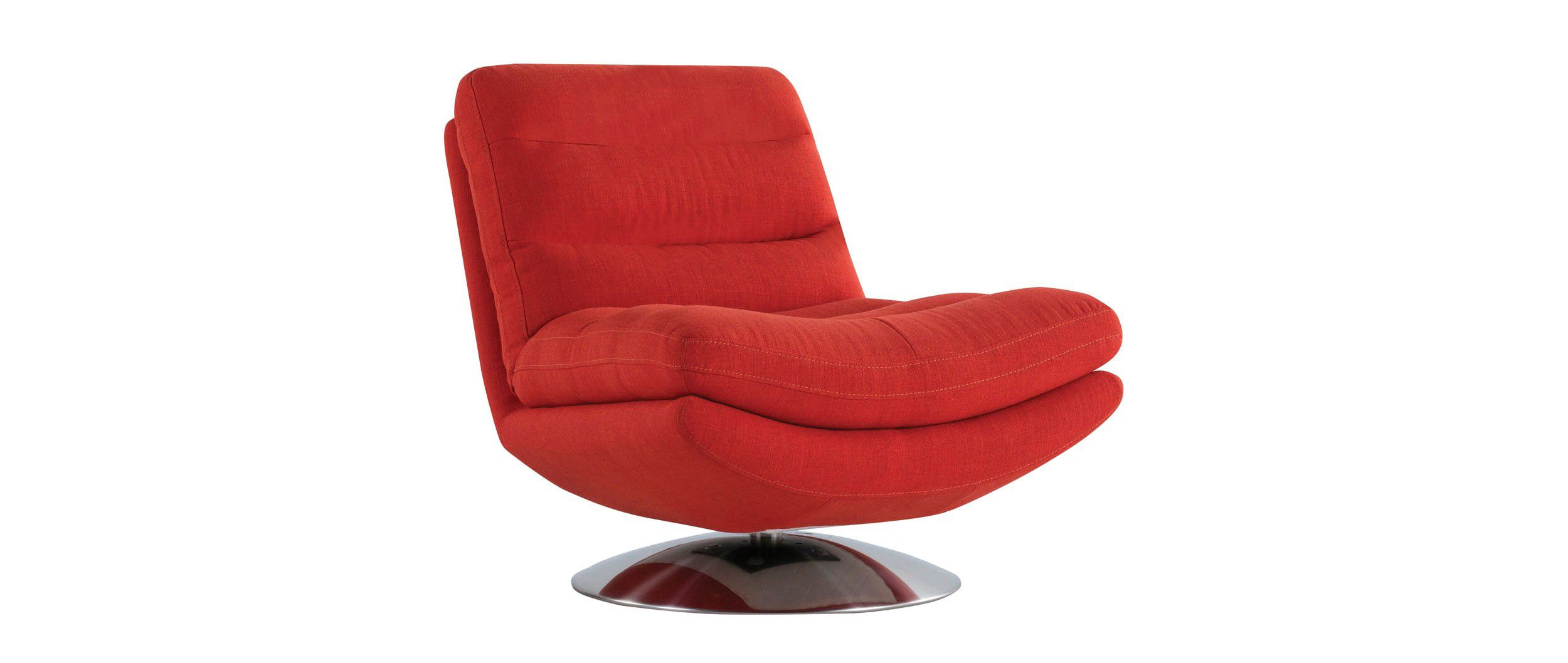 Fauteuil pivotant Cuir Center orange